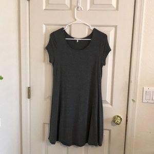 Grey T-shirt dress